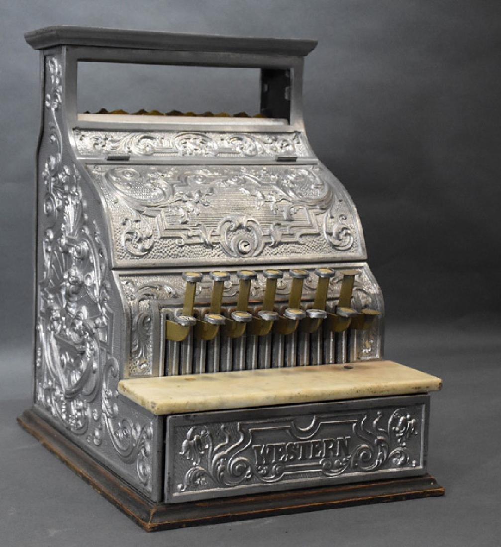 Burdick Corbin Western model nickle cash register