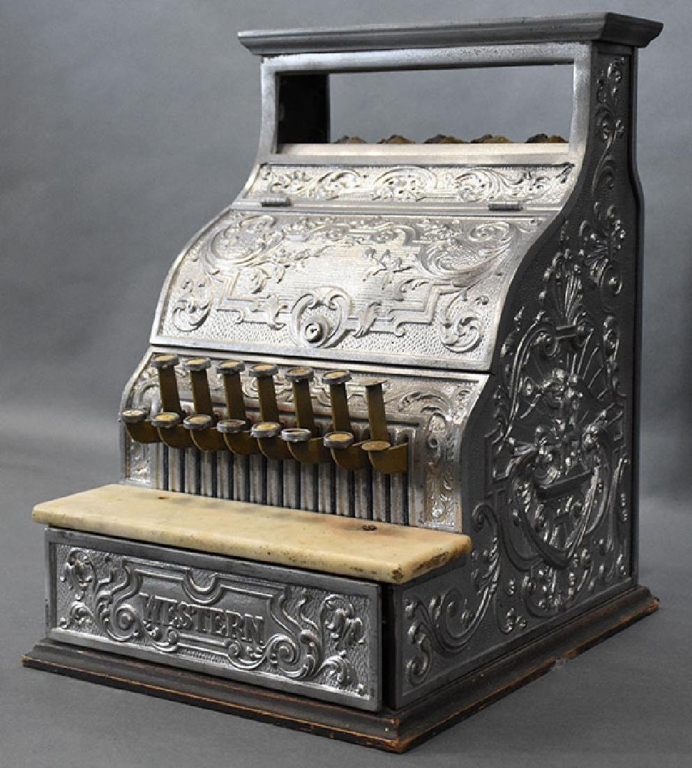 Burdick Corbin Western model nickle cash register - 2
