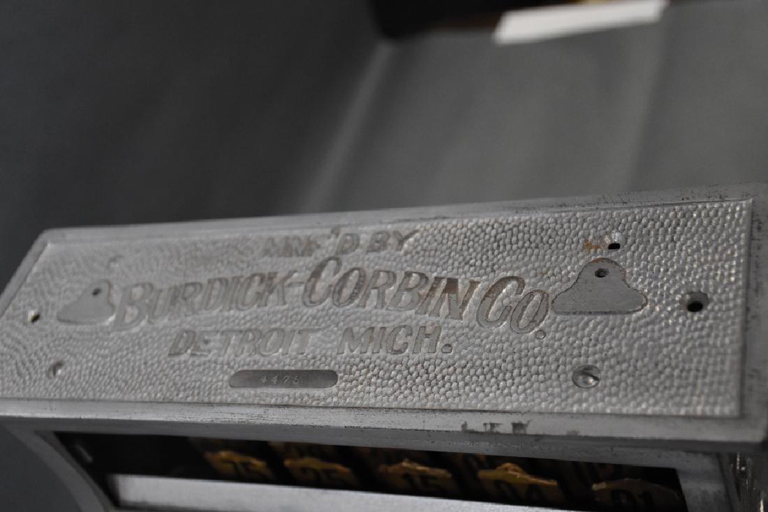 Burdick Corbin Western model nickle cash register - 3