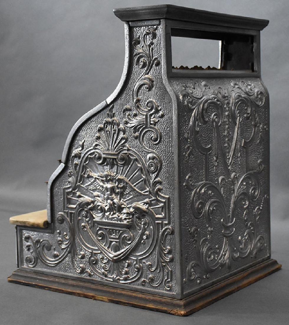 Burdick Corbin Western model nickle cash register - 4