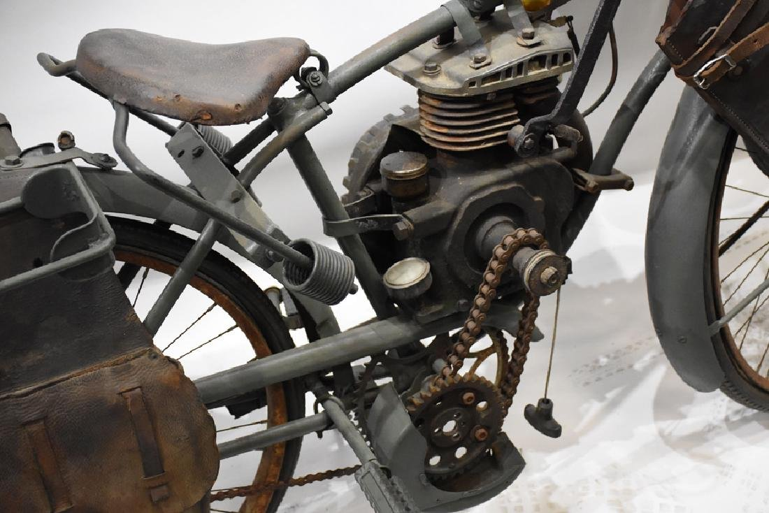 Goodrich Military bicycle with engine and Indian gas - 2