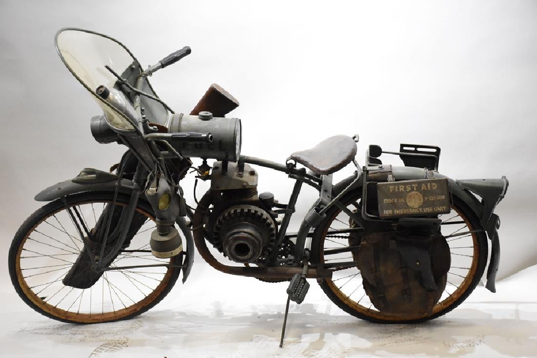 Goodrich Military bicycle with engine and Indian gas - 5