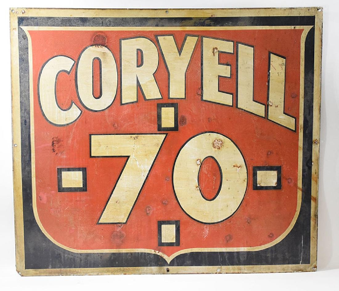 coryell 70 double sided sign