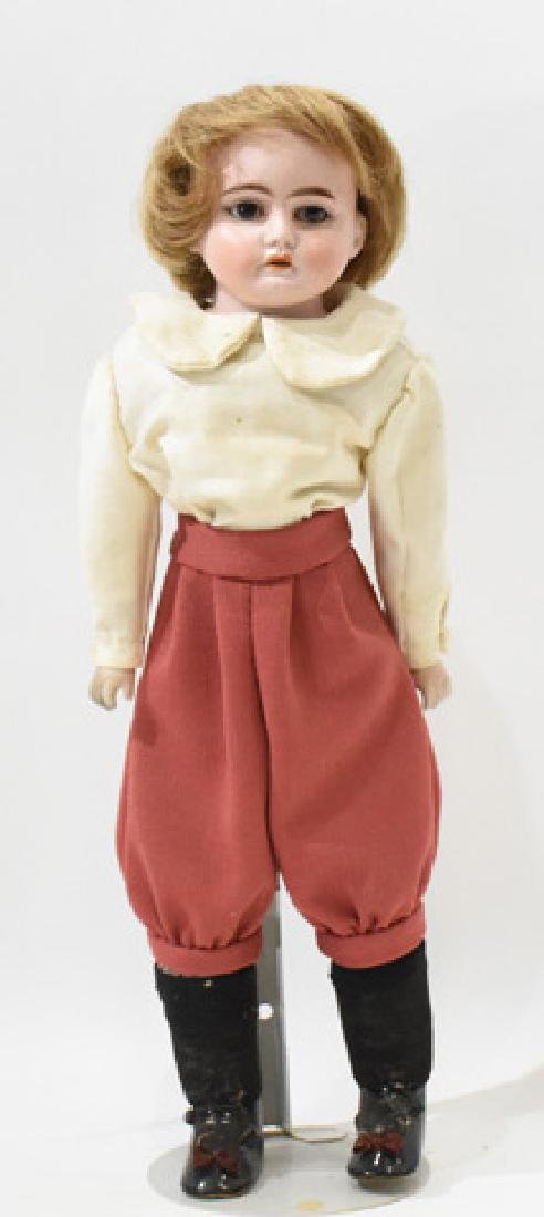 """17"""" German bisque doll, horeshoe #1901-2, as is, crack"""