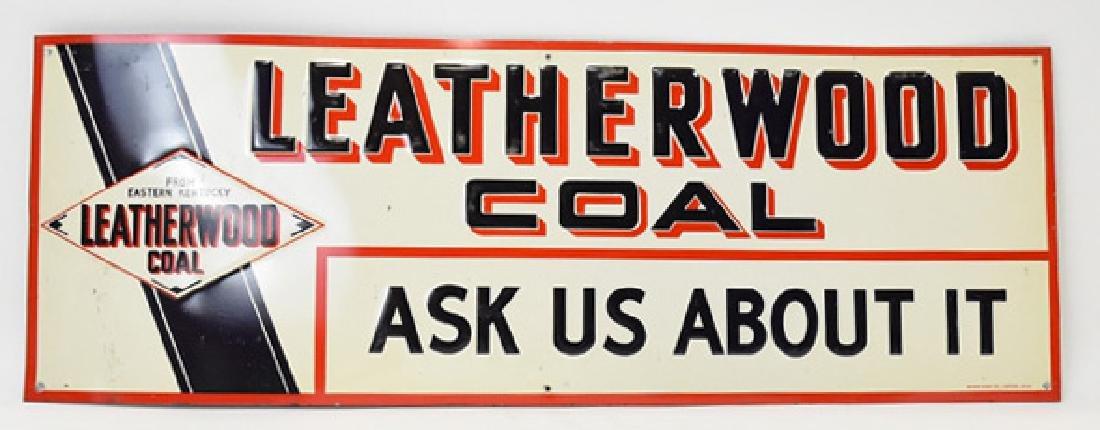 Leatherwood coal tin sign