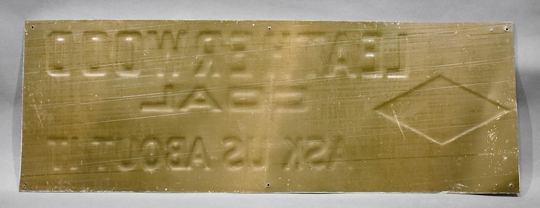 Leatherwood coal tin sign - 2