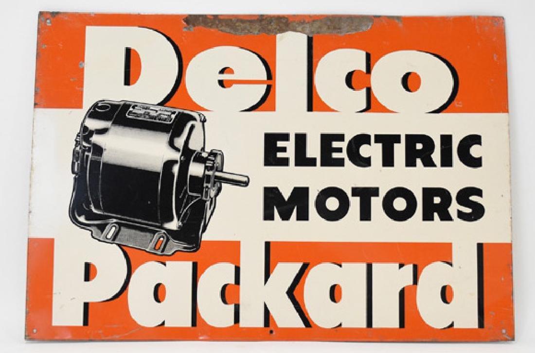 Delco Packard motor tin sign
