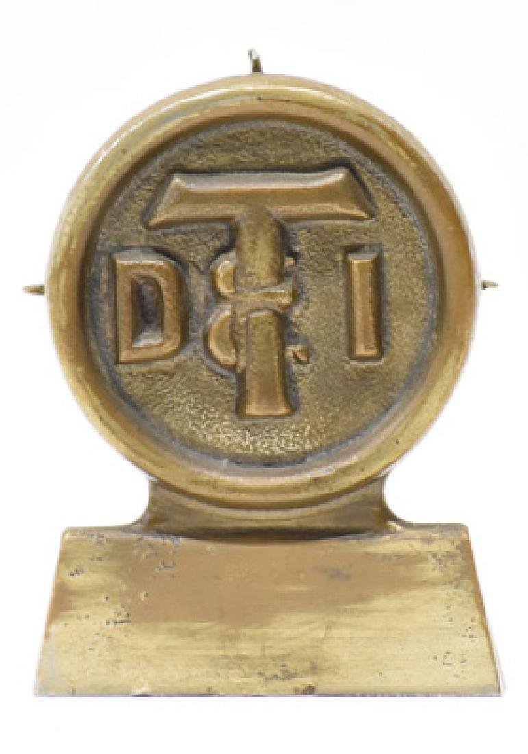 Bronze DTI railroad paperweight - 2
