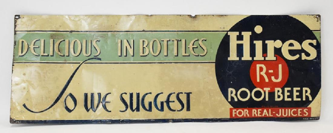 Hires root beer tin  sign