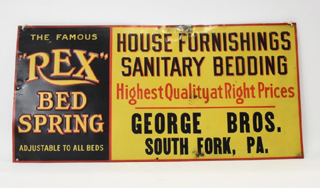 Rex bed spring tin sign