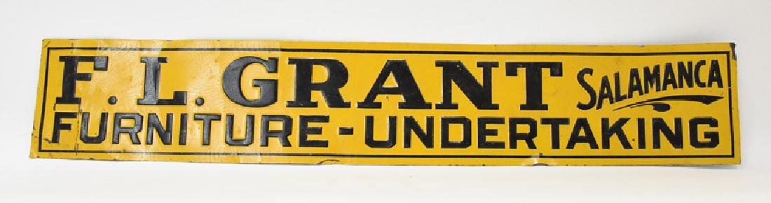 F.L. Grant Furniture - Undertaking tin sign