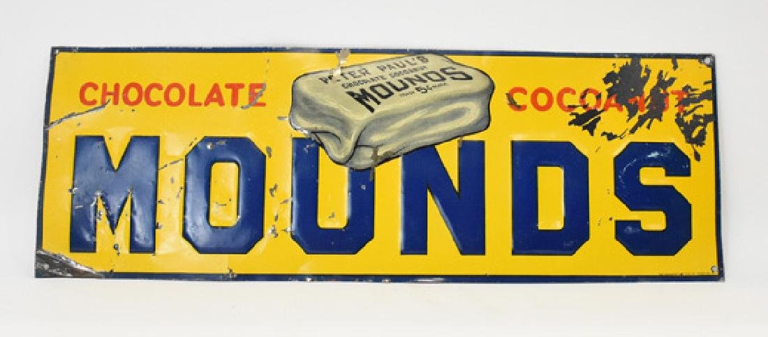 Mounds candy bar tin sign