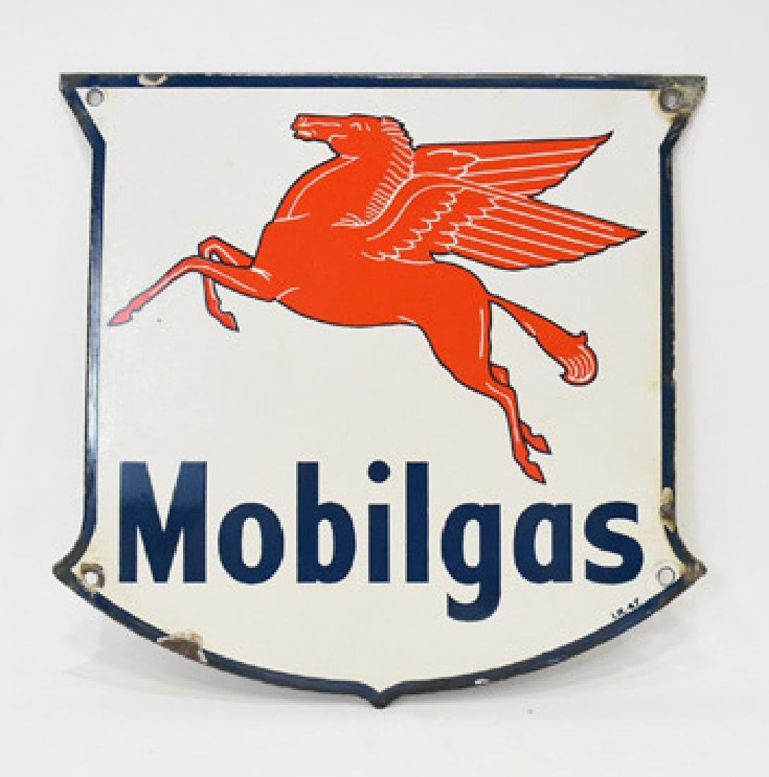 Porcelain Mobilgas pegasus sign