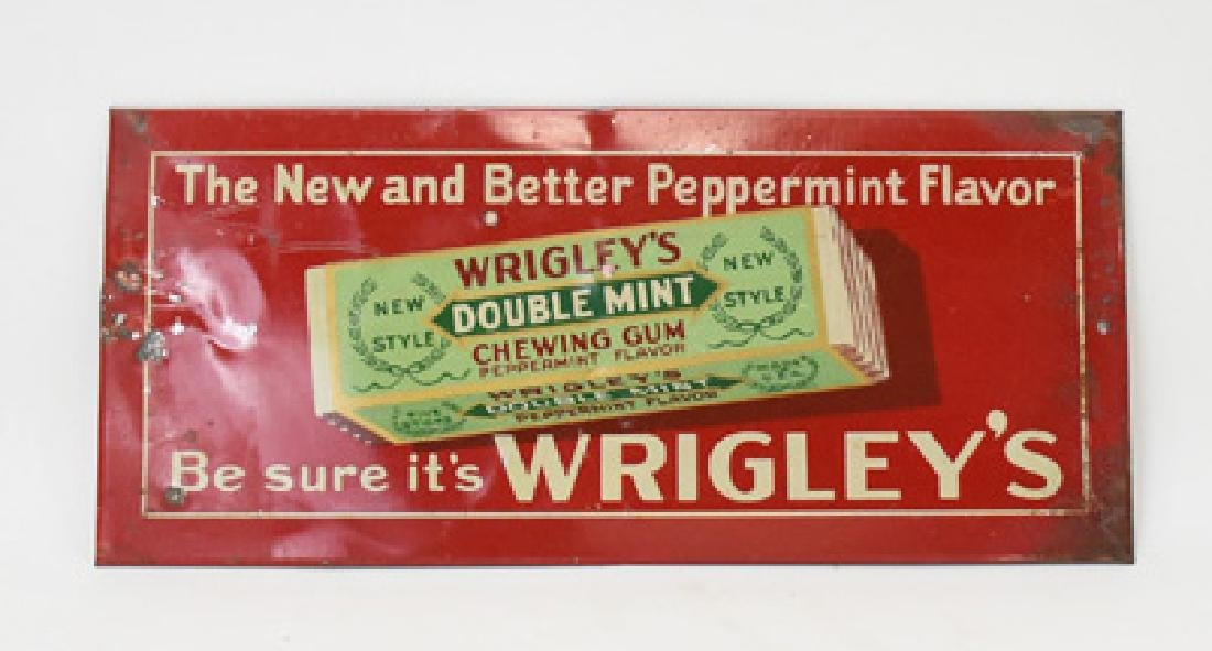 Wrigley's chewing gum tin sign
