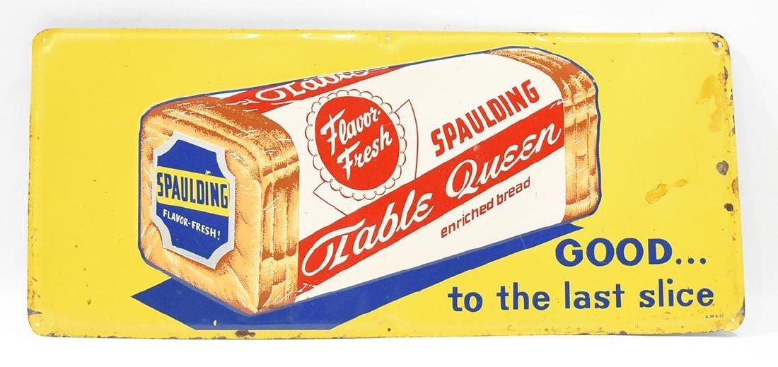 Spaulding bread tin sign
