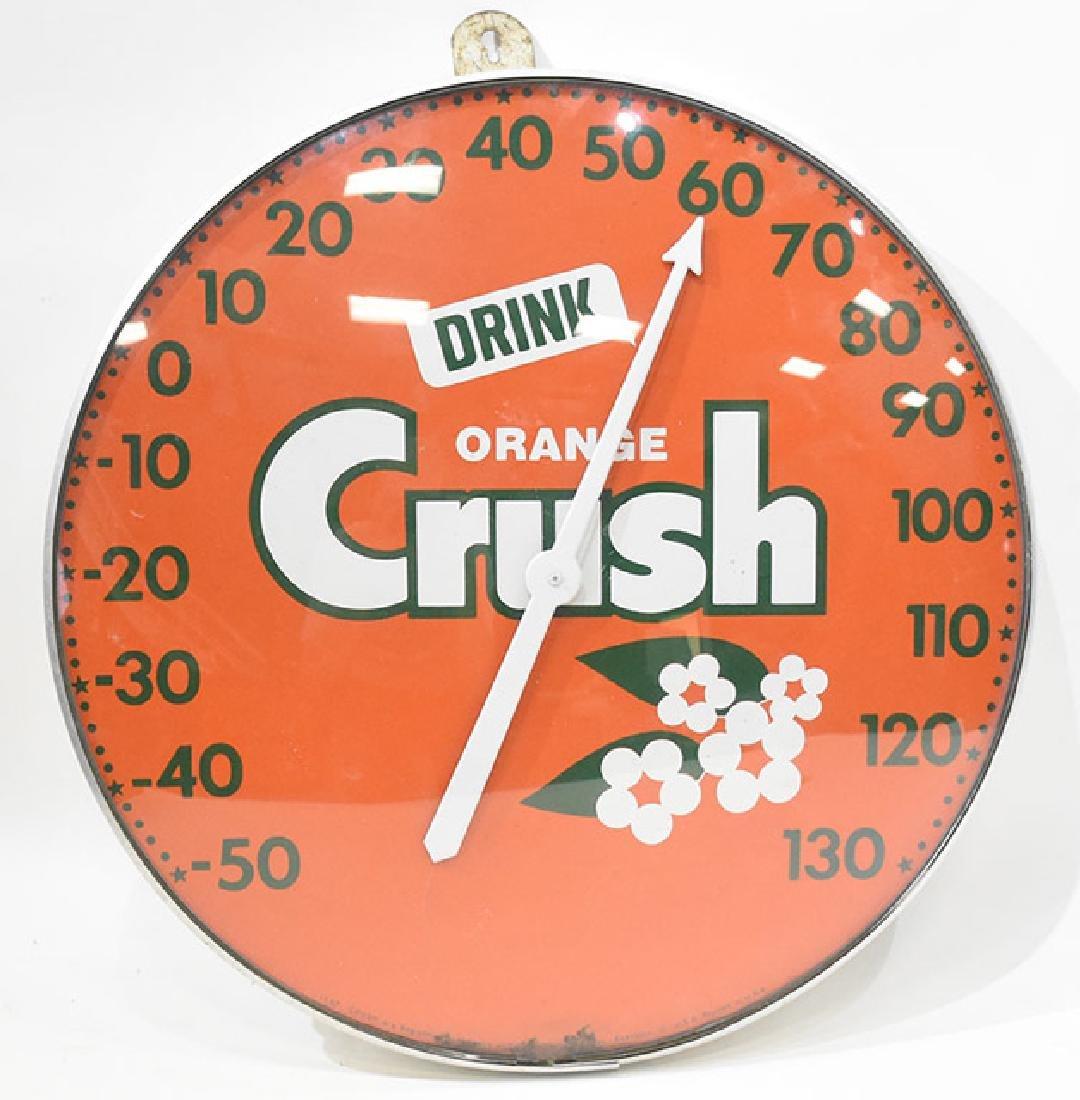 vintage Orange Crush bubble thermometer