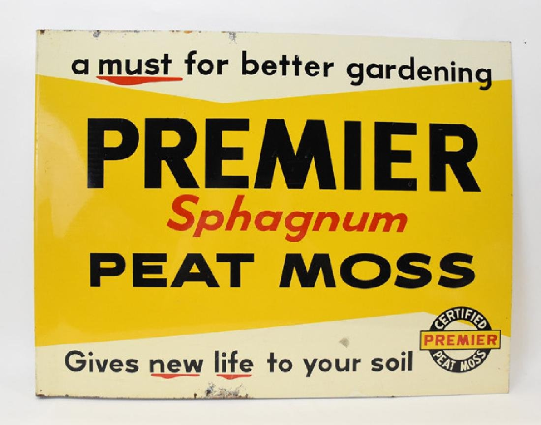 Shagnum Premier peat moss Metal flanged 2 sided sign - 2