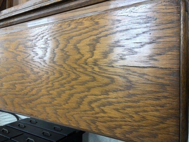 oak 3 stack globe wernicke bookcase desk - 3