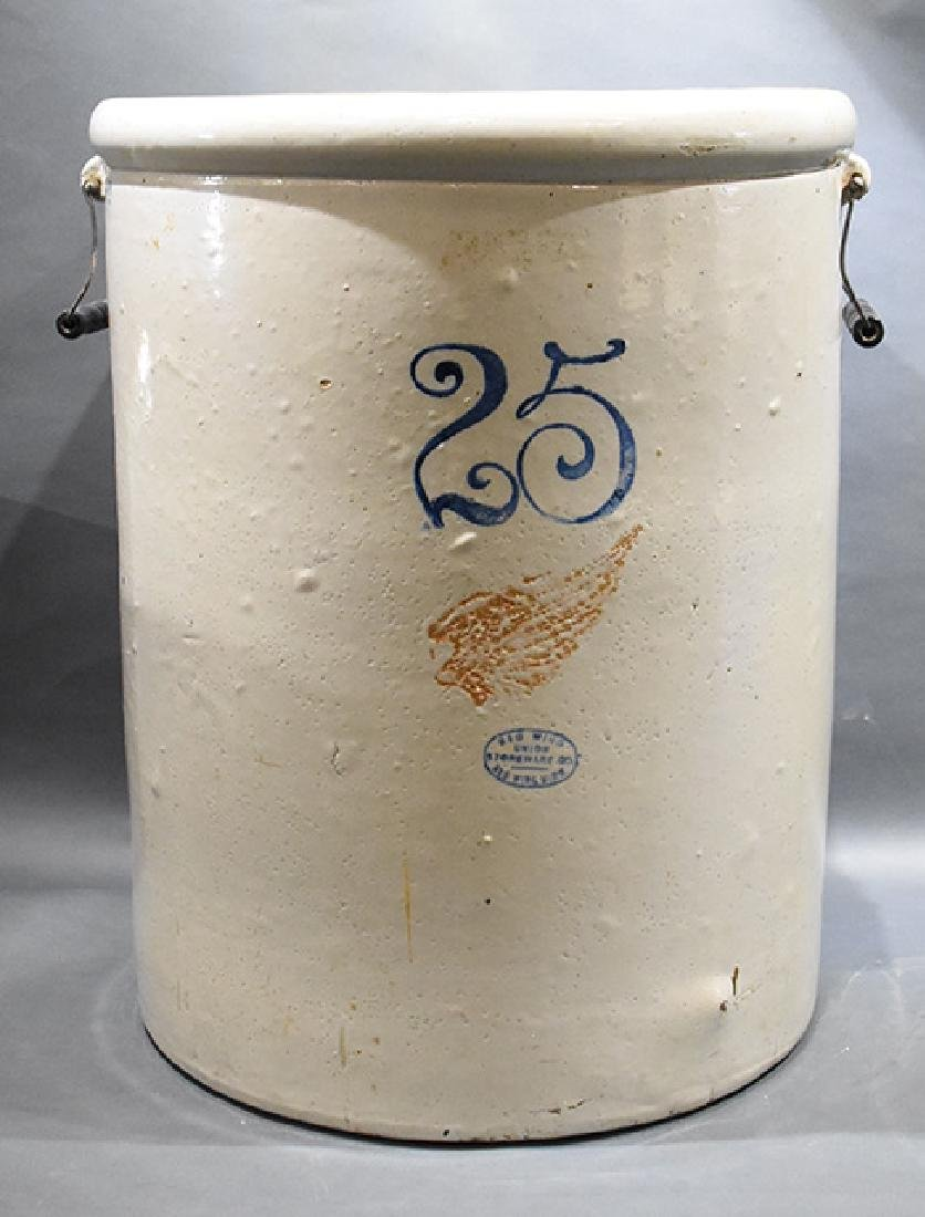 Redwing 25 Gallon stoneware crock