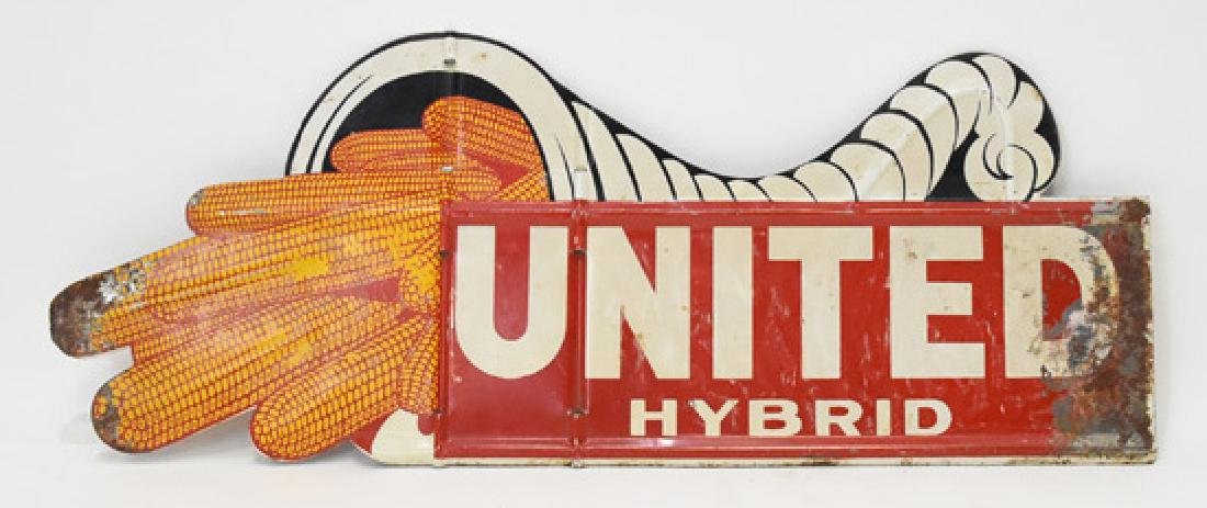 United hybrid double sided metal sign