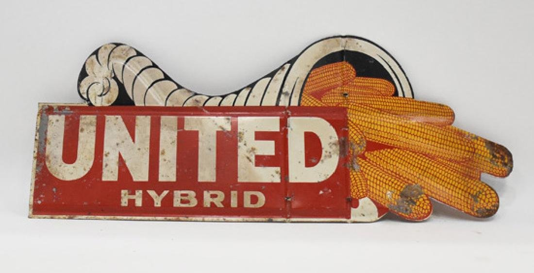 United hybrid double sided metal sign - 2