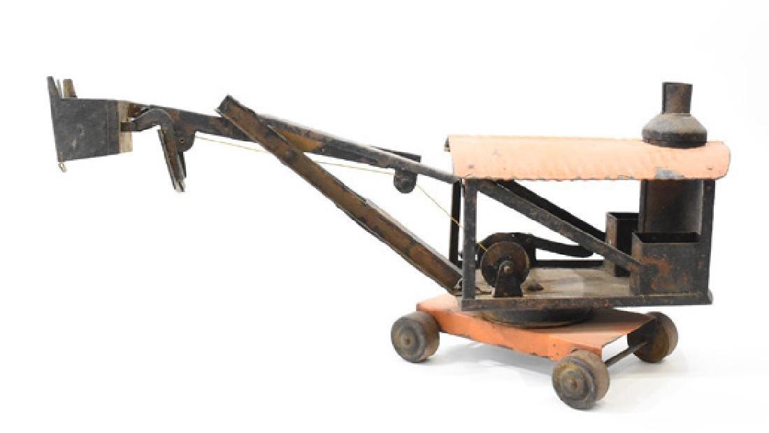 Toy steam shovel