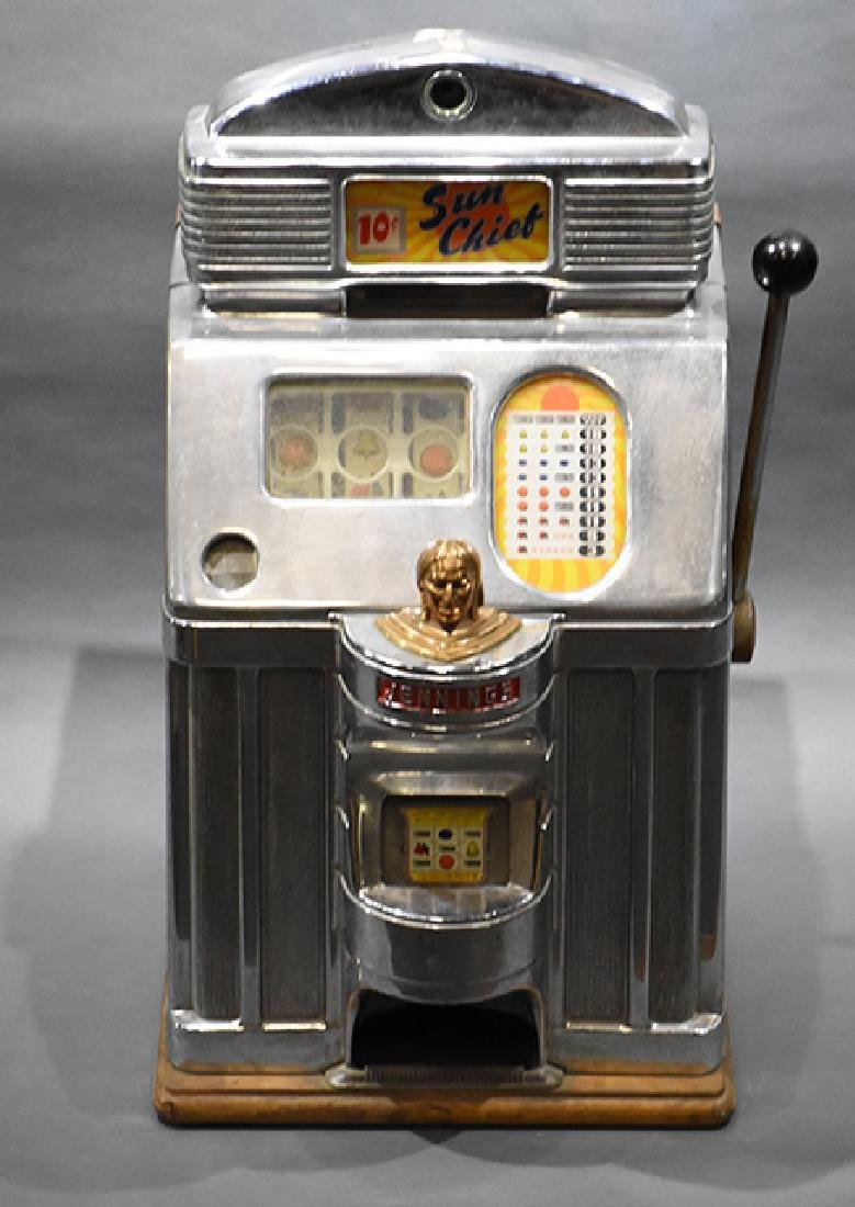 Jennings 10 Cent Sun Chief Indian Head Slot Machine