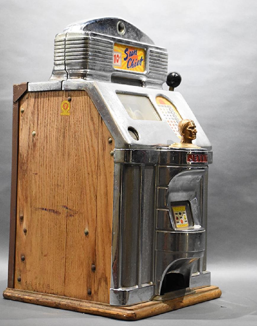 Jennings 10 Cent Sun Chief Indian Head Slot Machine - 2
