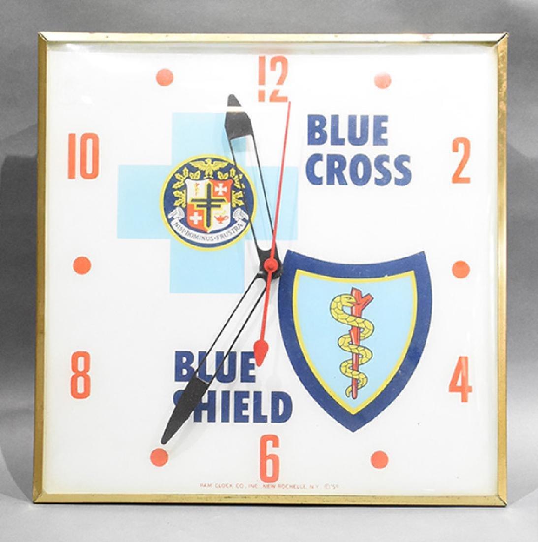 Blue Cross Blue Shield Advertising Bubble Clock