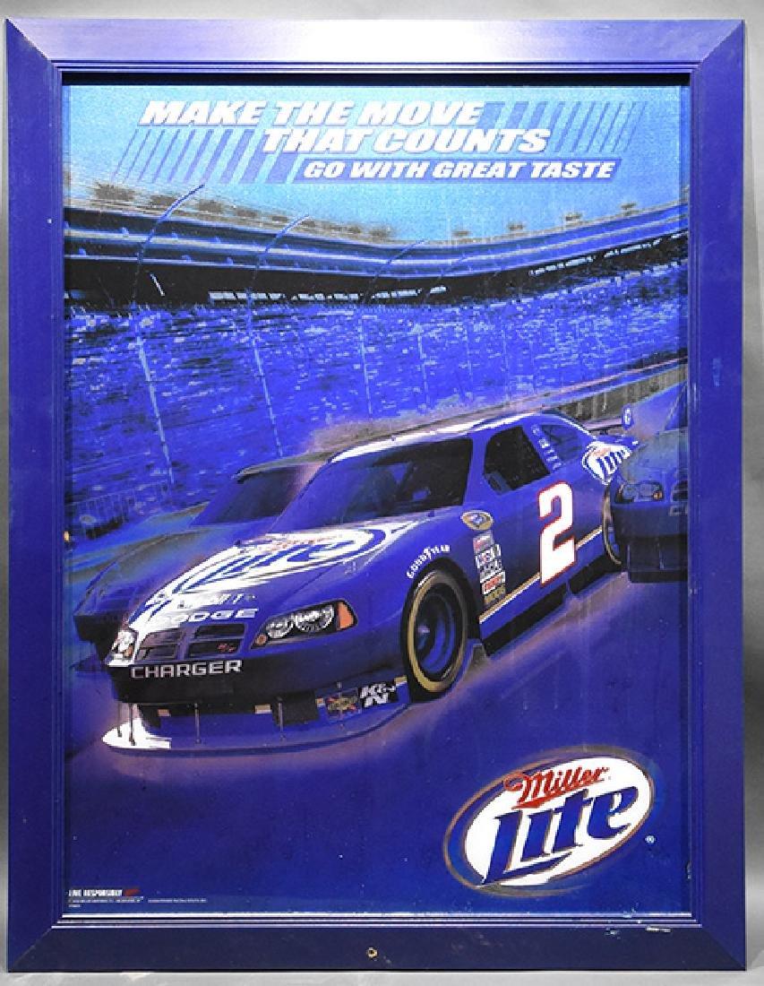 Miller Lite #2 Nascar Dodge Charger Sign