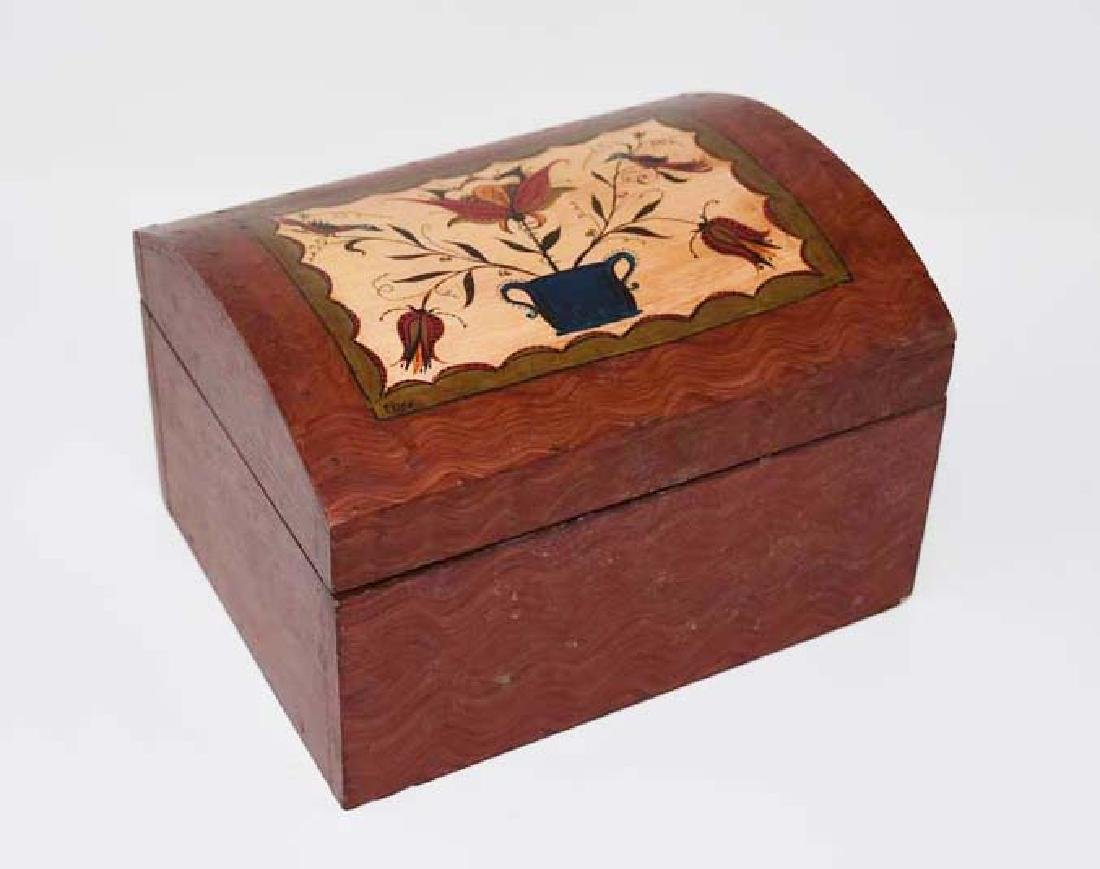 Decorated wooden box by Tom King
