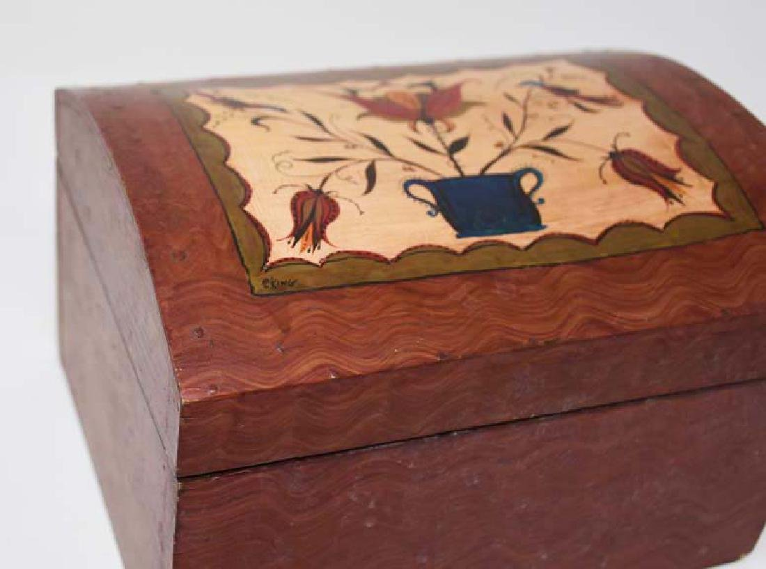Decorated wooden box by Tom King - 2