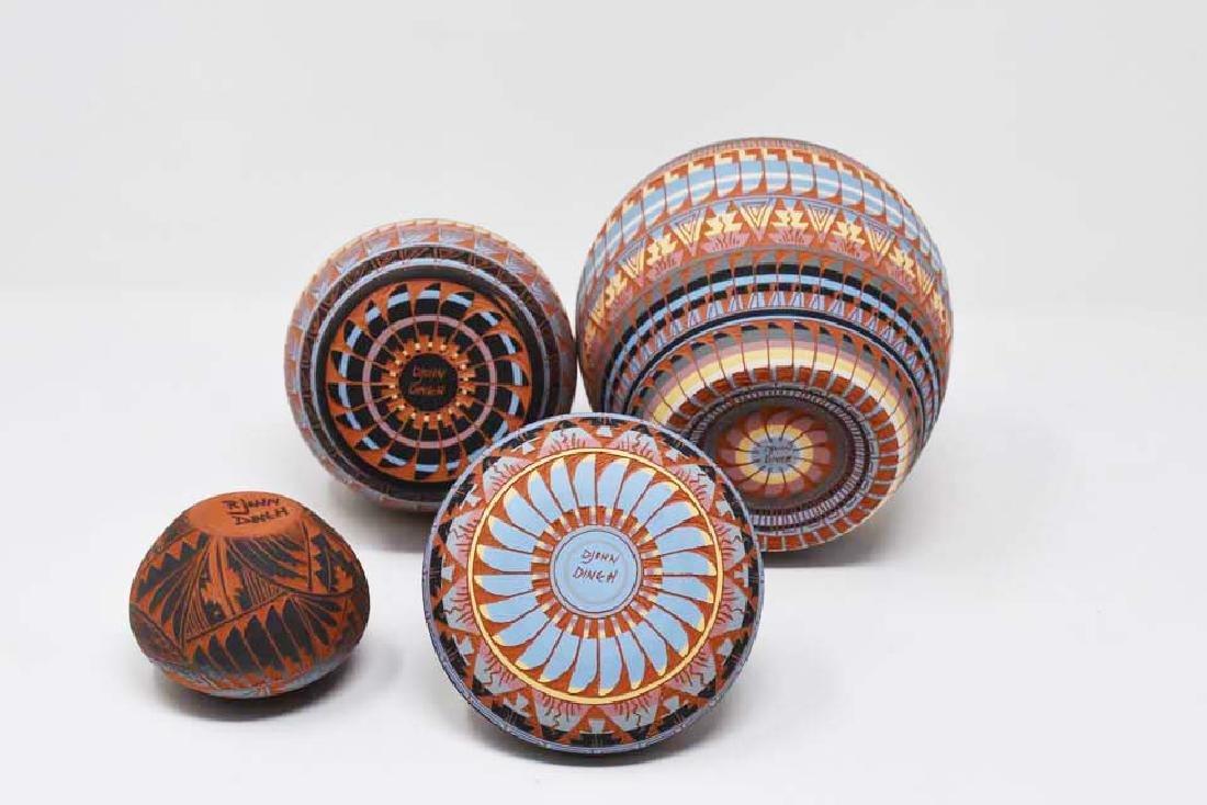 4 Navajo pottery vases - 2