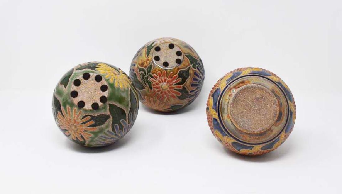 3 Cathra-Anne Barker vases
