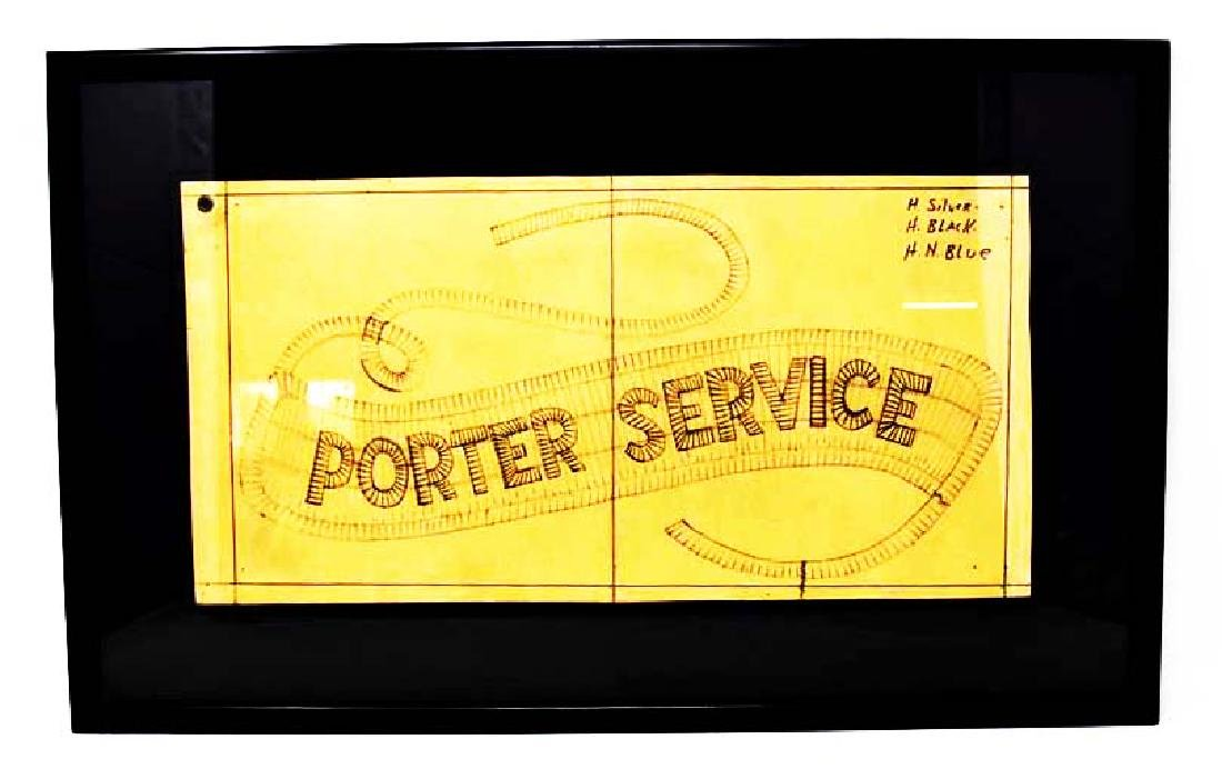 "Spenserian type pencil drawing ""Porter Service"""
