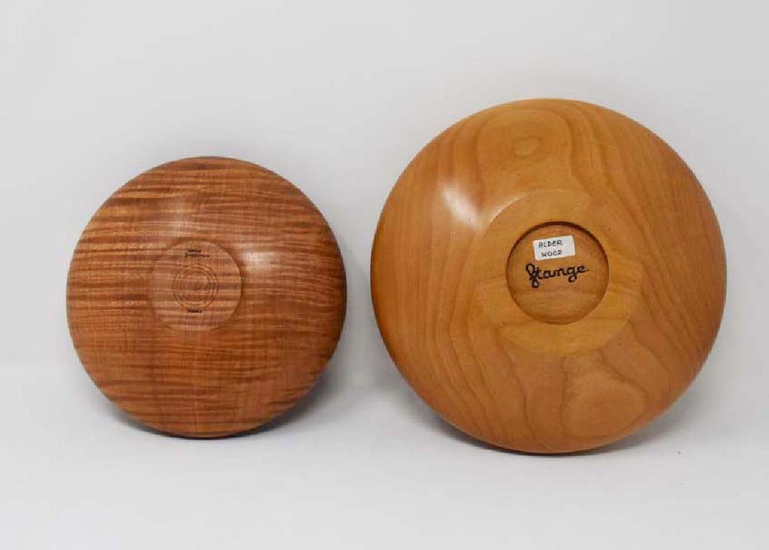 2 delicate wooden bowls - 2