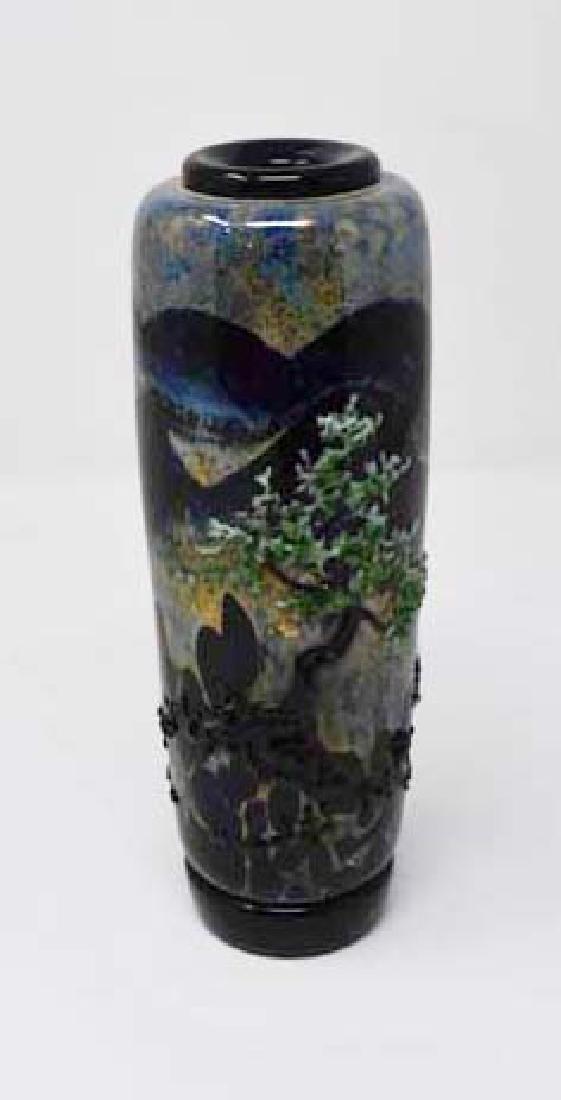 Signed John Nygren art glass vase