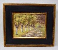 Oil on artist board signed Michael Gibbons