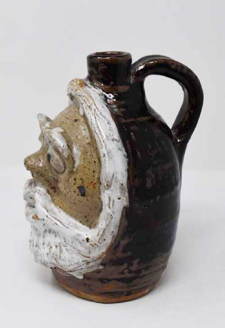 Grotesque jug, signed Marie Rogers - 2