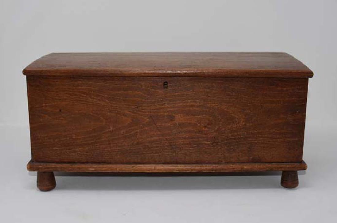 Miniature wooden blanket chest