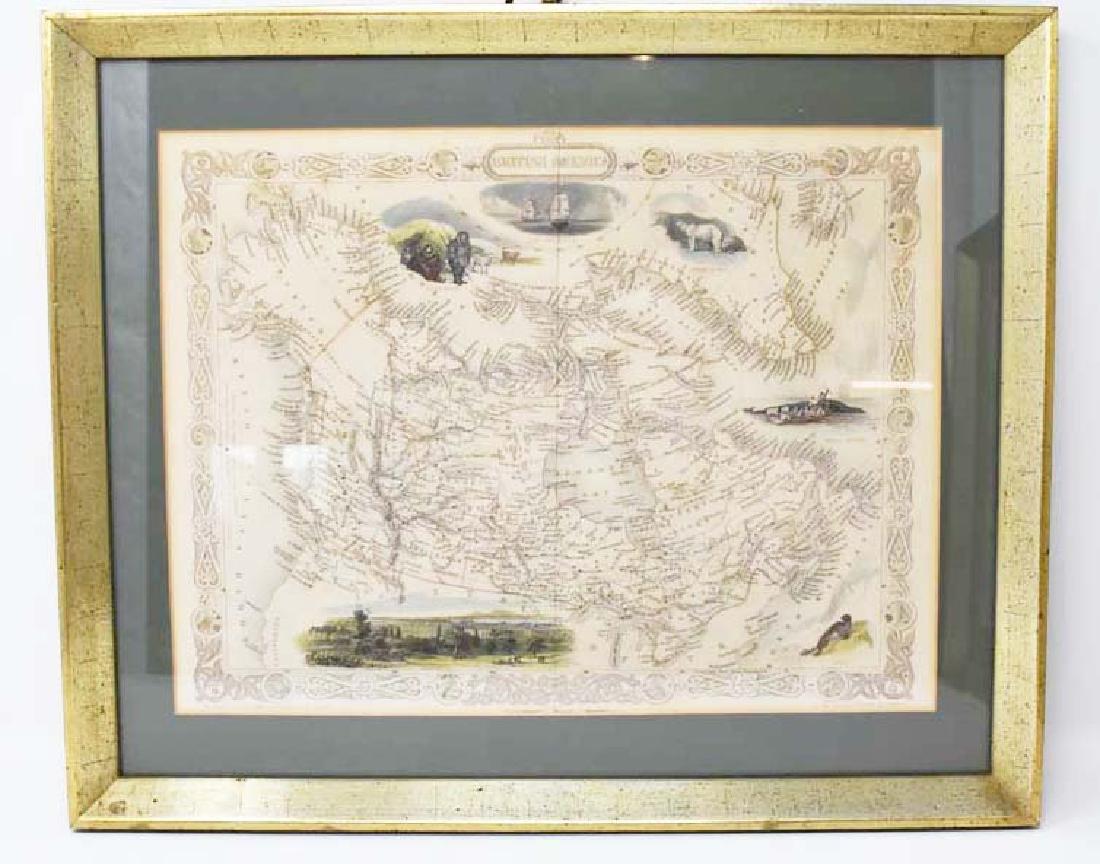 2 Framed antique maps - 2