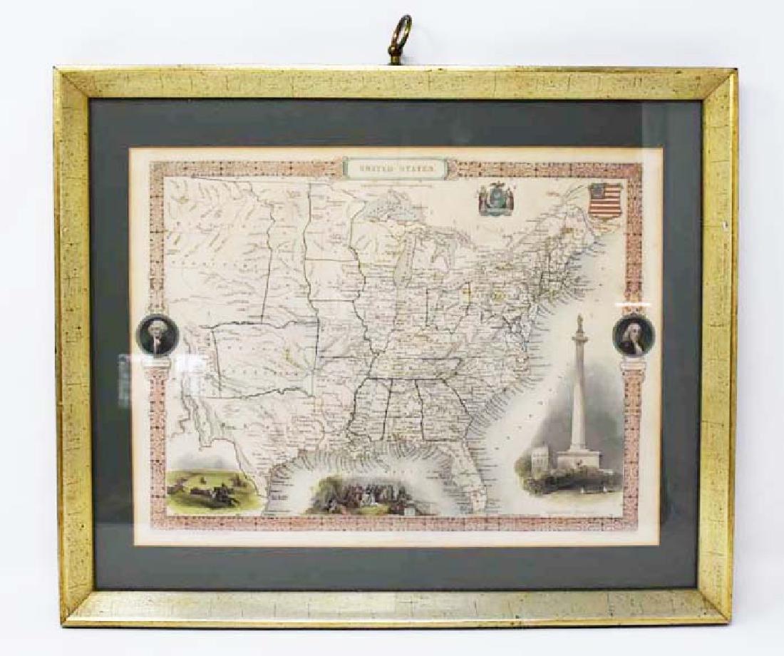 2 Framed antique maps - 5