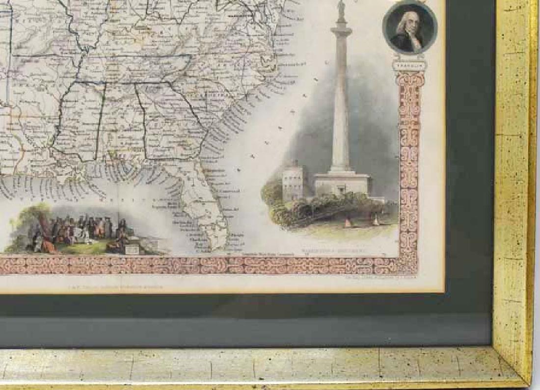 2 Framed antique maps - 7