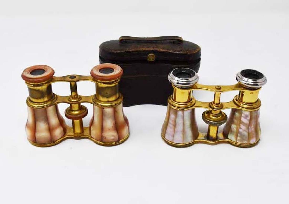 2 pair of mother of pearl opera glasses