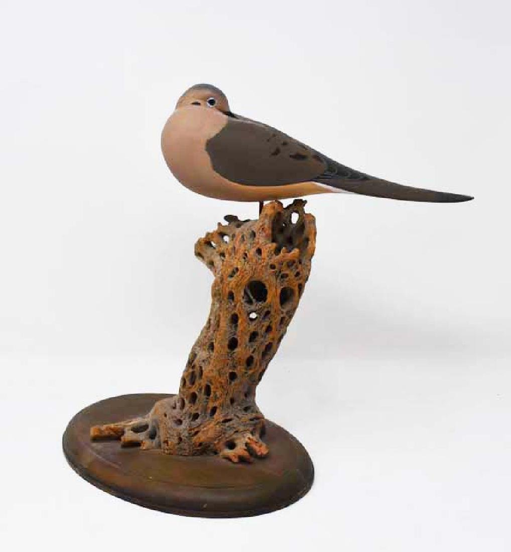 Carved wooden morning Dove Buckeye Joe