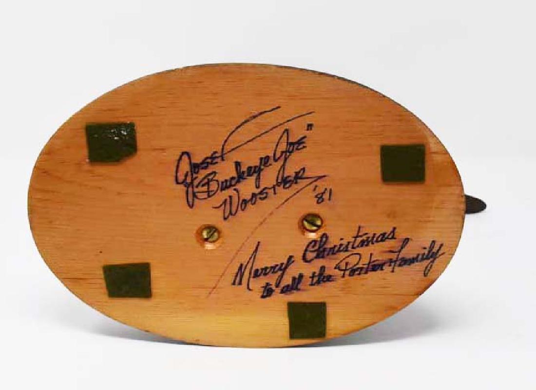 Carved wooden morning Dove Buckeye Joe - 2