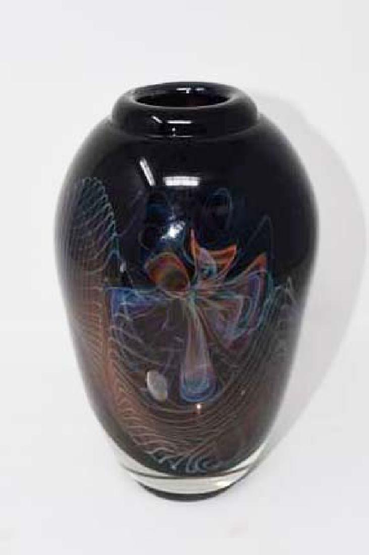Signed Wright 1982 Beautiful art glass vase