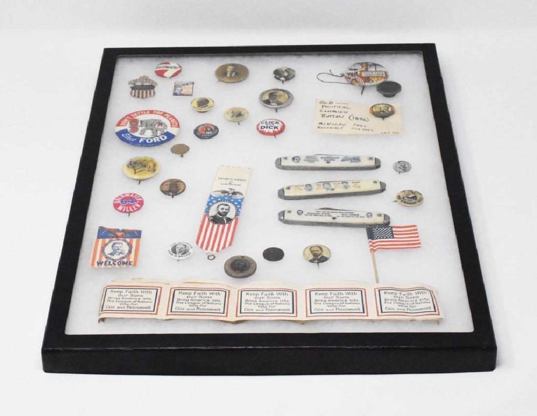 30 vintage political pins john bell etc