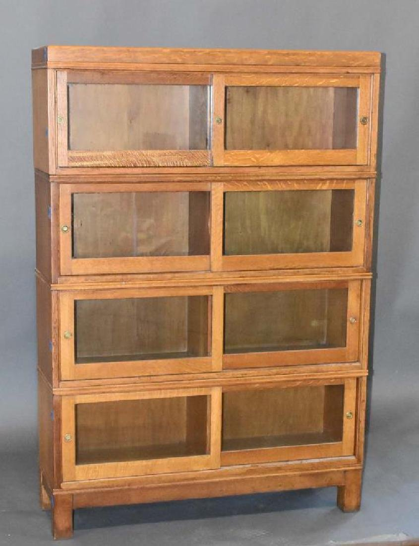 4 stack oak bookcase