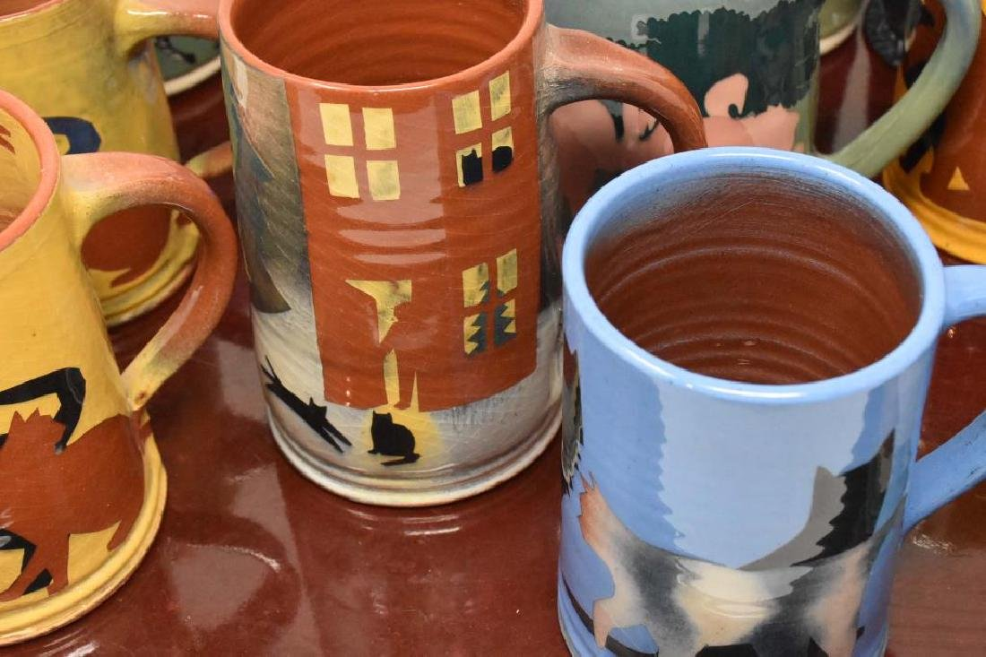 12 West Cote Bell pottery mugs - 2